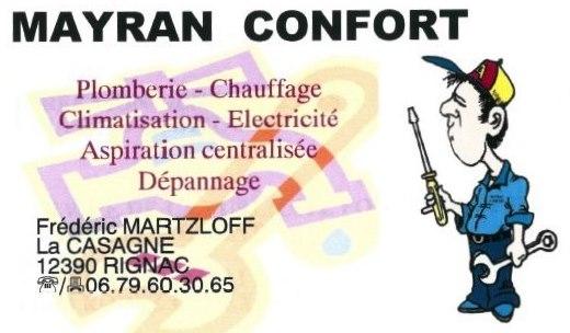Carte de visite de Mayran confort