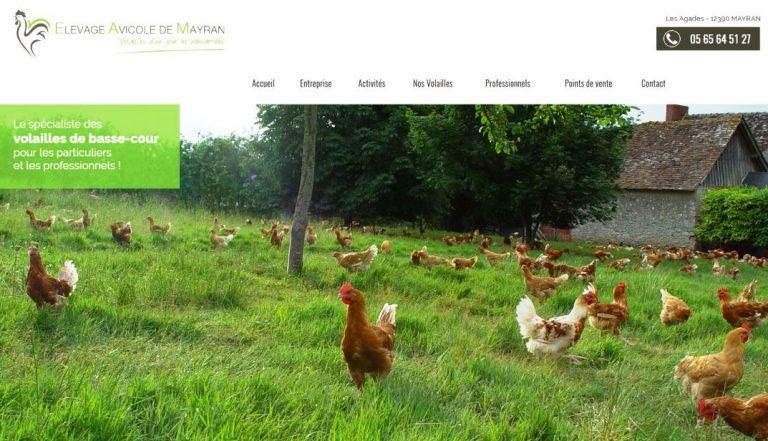 Carte de visite de l'Élevage agricole de Mayran