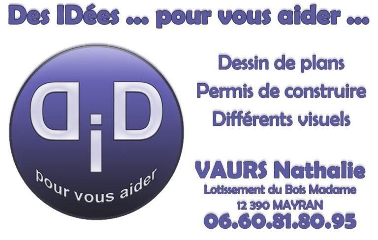 Carte de visite de Des iDées pour vous Vaurs Nathalie