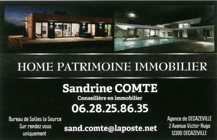Carte de visite de COMTE Home patrimoine immobilier