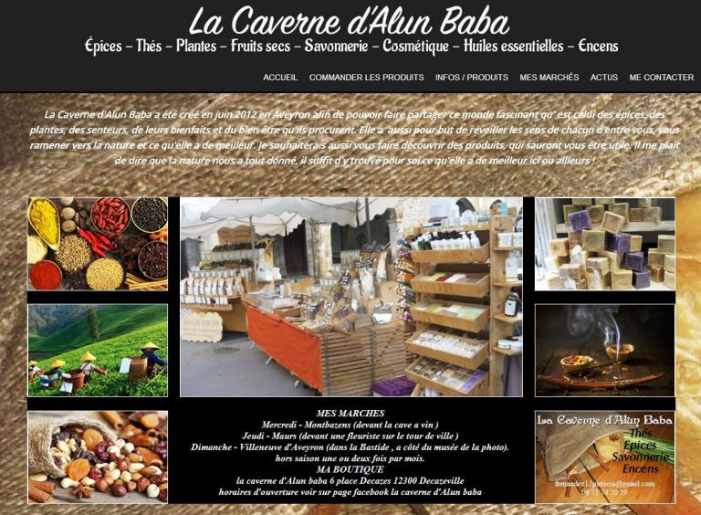 Carte de visite de Caverne Alun baba