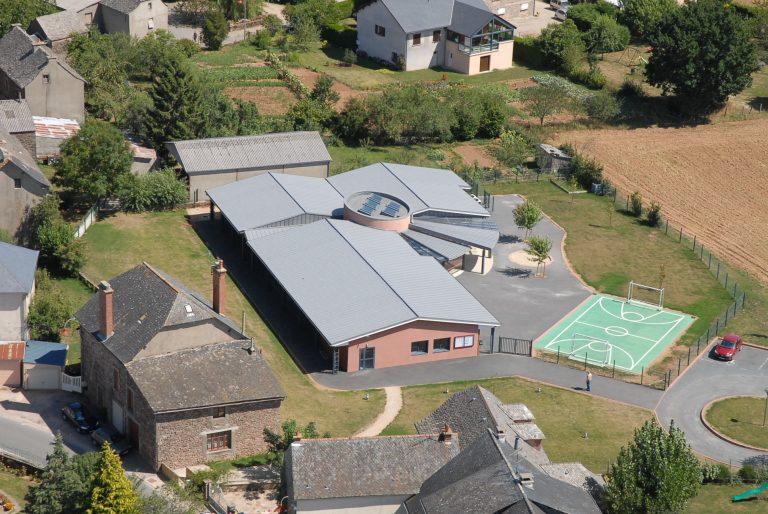 Vue aérienne de l'école de Mayran